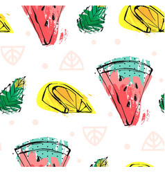 hand drawn abstract cute funny summer time vector image