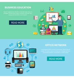 Office Network And Business Education Banners vector image