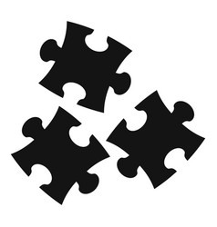 puzzle icon simple style vector image