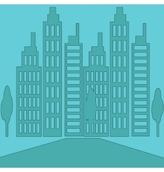 Set Icons Skyscrapers Buildings vector image