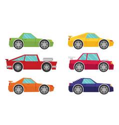 set of cartoon cars flat vector image vector image