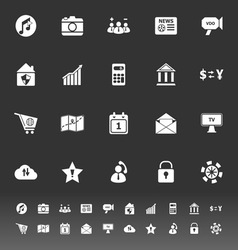 Smart phone icons on gray background vector image