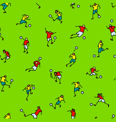 soccer players with ball background seamless vector image vector image