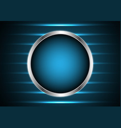 technology future silver metal circle light stripe vector image vector image