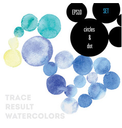 watercolor circles vector image