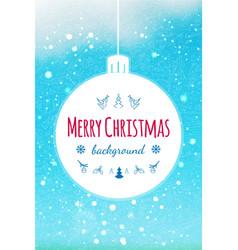 abstract christmas ball holiday design for vector image