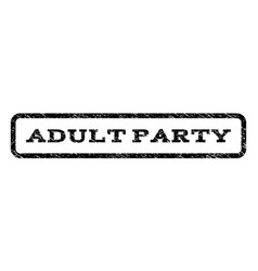 Adult party watermark stamp vector