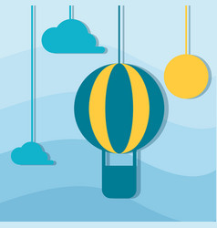 Air balloon vector