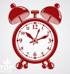 Alarm clock 3d wake up conceptual icon Gra vector