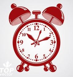 Alarm clock 3d wake up conceptual icon gra vector