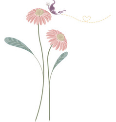 background of pink flower vector image