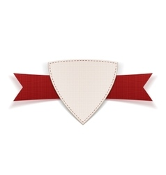 Badge with red Ribbon and Place for Text vector