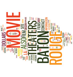 Baton rouge news text background word cloud vector