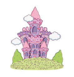 beautiful fairytale castle in the landscape vector image