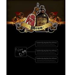 Beer and snack menu vector
