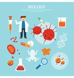 biology background education concept flat design vector image vector image