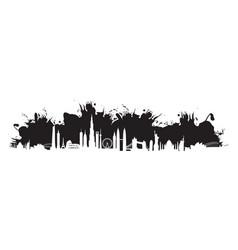Black cityscape splash vector