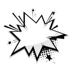Blank template comic speech balloon star vector