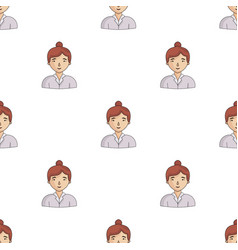 Businesswoman icon in cartoon style isolated on vector
