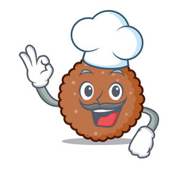 Chef chocolate biscuit character cartoon vector