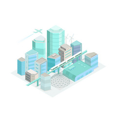 city isometric landscape modern architecture vector image