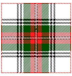 Clan Stewart Tartan Plaid Pattern vector image