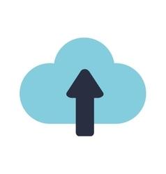 cloud arrow up icon design vector image