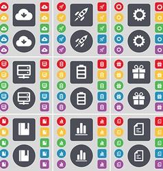 Cloud Rocket Gear Server Battery Gift Dictionary vector