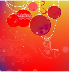 Colorful winter background with Christmas balls vector