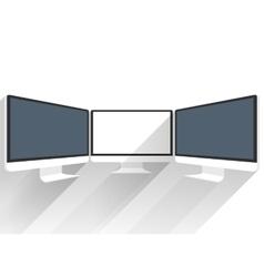Device Mockups Computer Monitor vector image
