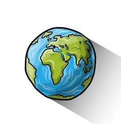 Doodle globe vector