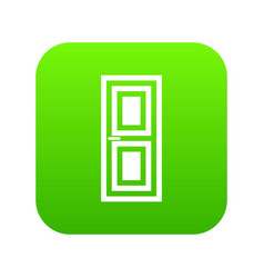 Door icon digital green vector
