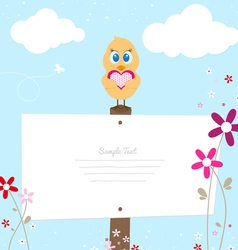Easter chicken over ig signboard vector