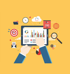 Financial investment analytics with growth report vector