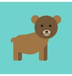 Flat icon stylish background cartoon bear vector