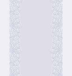 Floral frame with traditional ornament vector