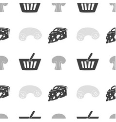 Food shop seamless pattern vector