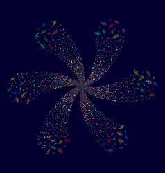 Galaxy swirl explosion vector