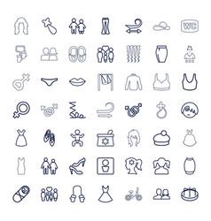 Girl icons vector