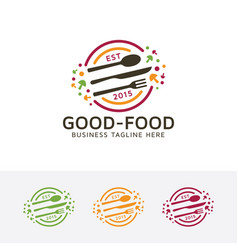 Good food logo design vector