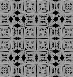 Gray pattern seamless on black background vector image