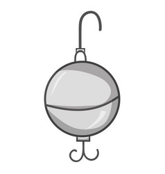 Grayscale spoons fish object to fishing recreation vector