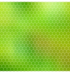 Green honeycomb - abstract geometric hexagon grid vector