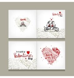 Greeting card design valentine day vector