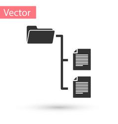 grey folder tree icon isolated on white background vector image