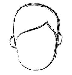 head man avatar icon vector image