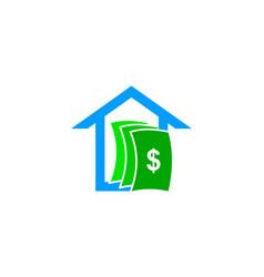house money logo design element vector image