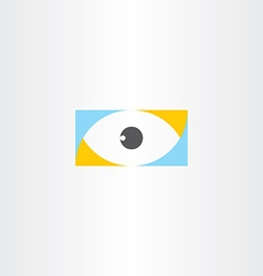 Humal eye logo sign element icon vector