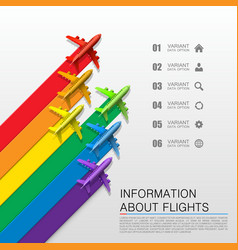 information about flights vector image
