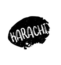 Karachi rubber stamp vector